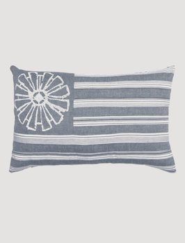VHC Brands Sawyer Mill Blue Flag Pillow