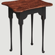 Nana's Farmhouse Porringer End Table with Tiger Maple Top & Black Painted Legs