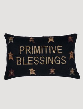 VHC Brands Heritage Farms Primitive Blessings Pillow