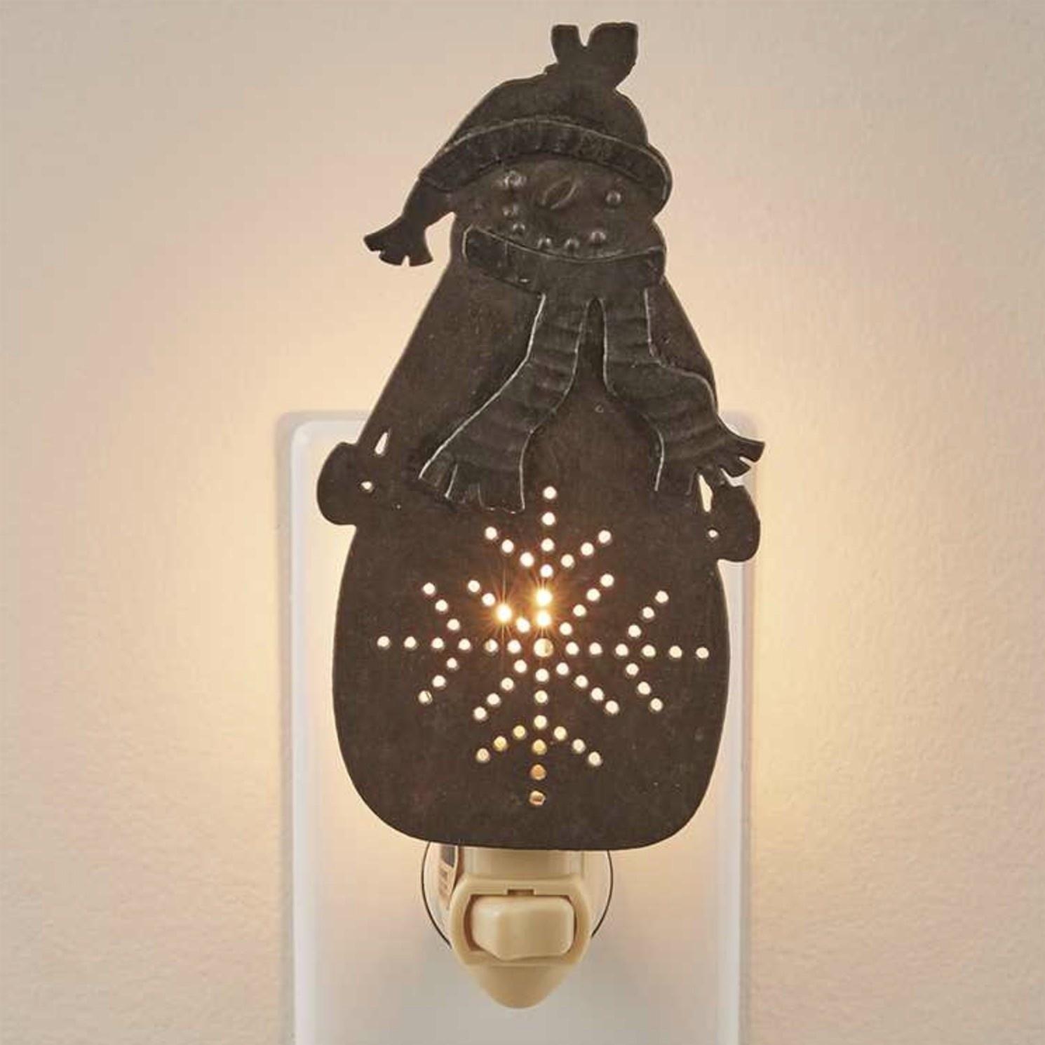 Park Designs Northwoods Snowman Night Light