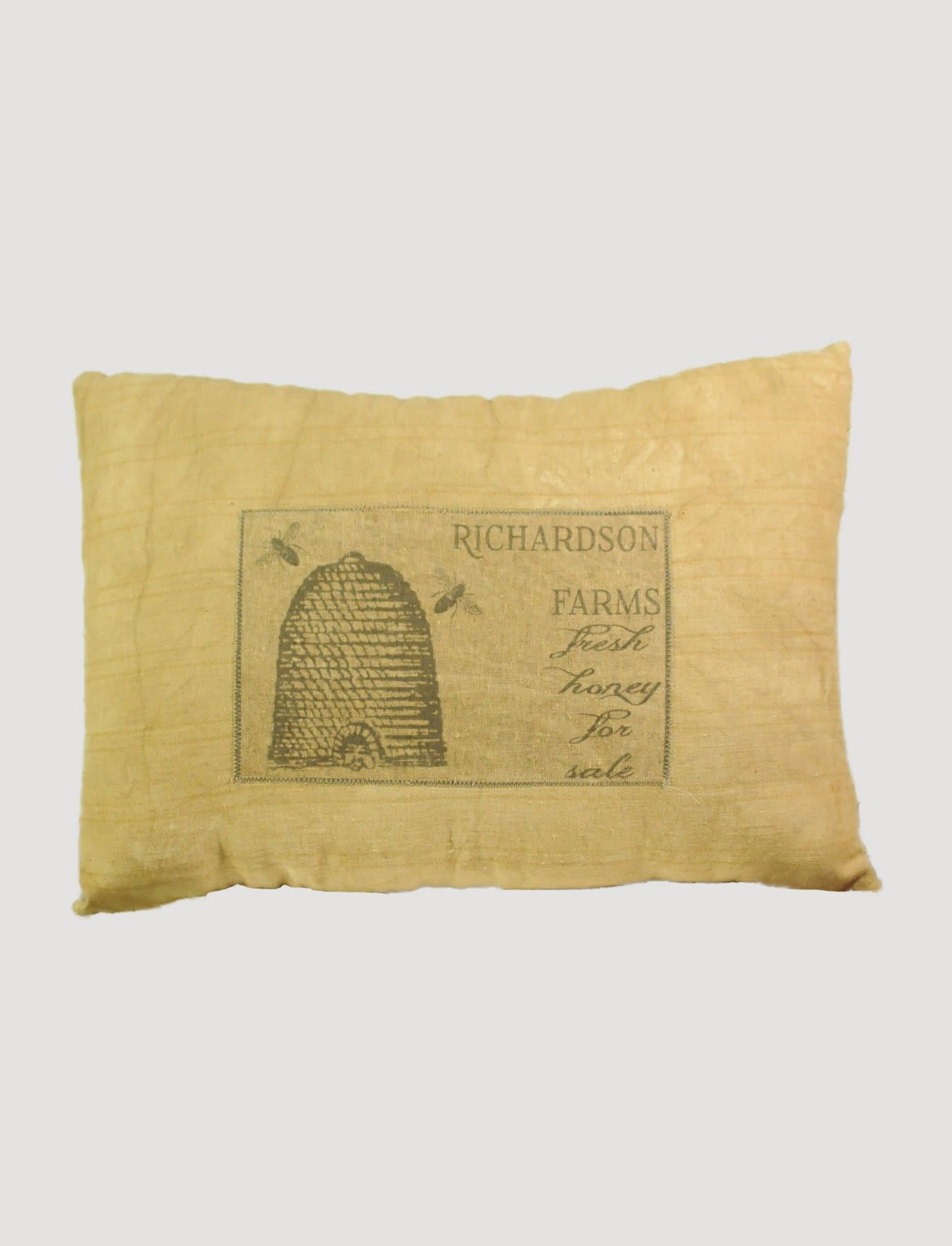 Nana's Farmhouse Handmade Richardson Farms Fresh Honey For Sale Pillow