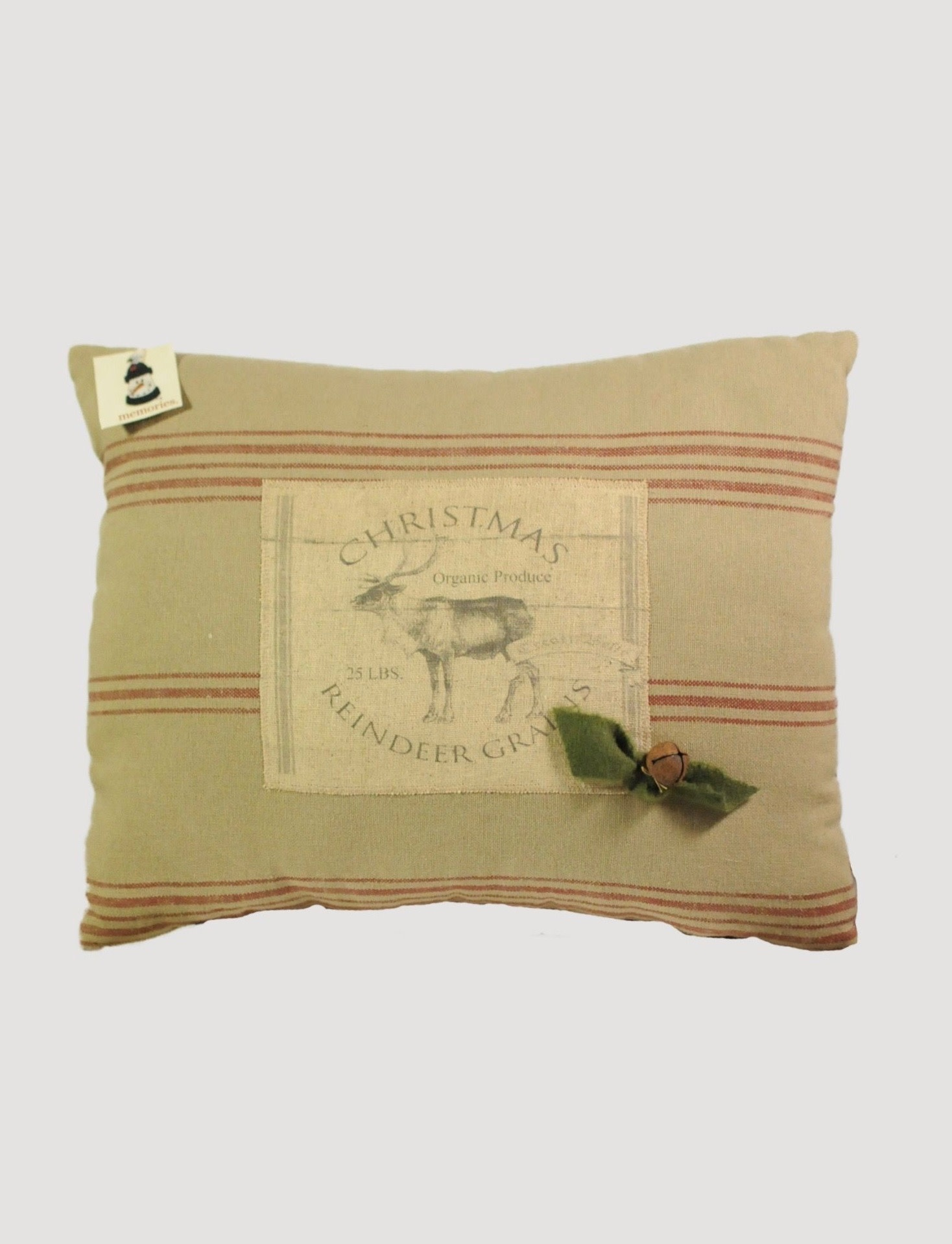 Nana's Farmhouse Reindeer Pillow