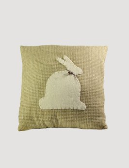 Nana's Farmhouse Handmade White Rabbit Pillow
