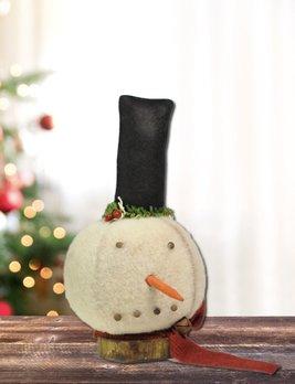 Nana's Farmhouse Snowman Head W/top Hat