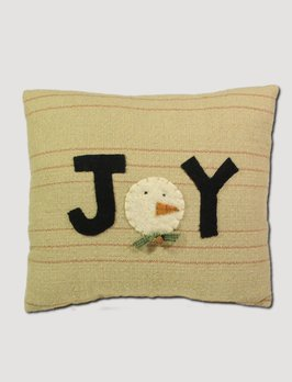 Nana's Farmhouse Joy Snowman Pillow