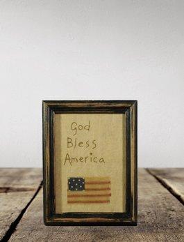 Nana's Farmhouse Americana God Bless Framed Sampler