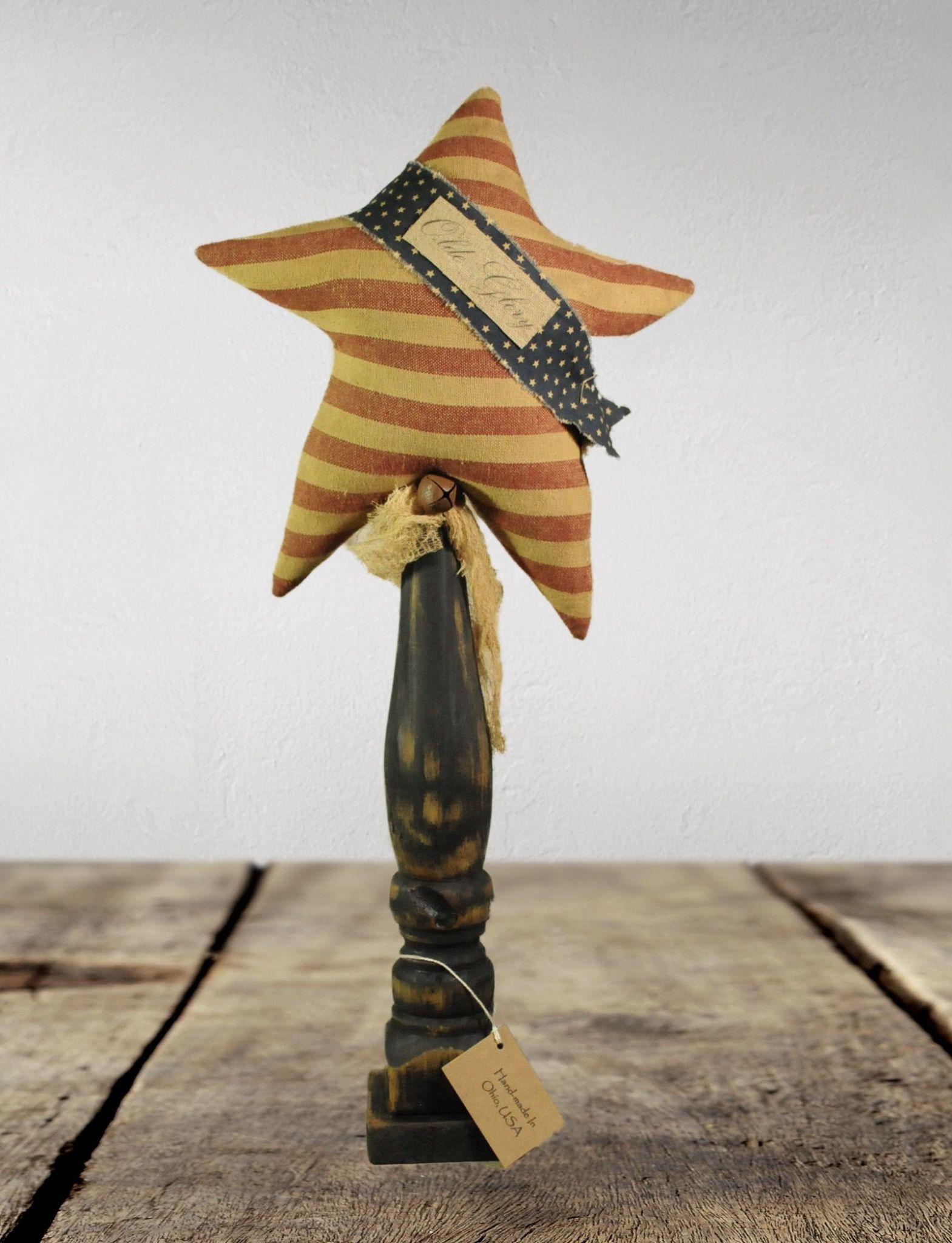 Nana's Farmhouse Star on Spindle Handmade