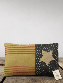 Nana's Farmhouse Americana Primitive Star Pillow