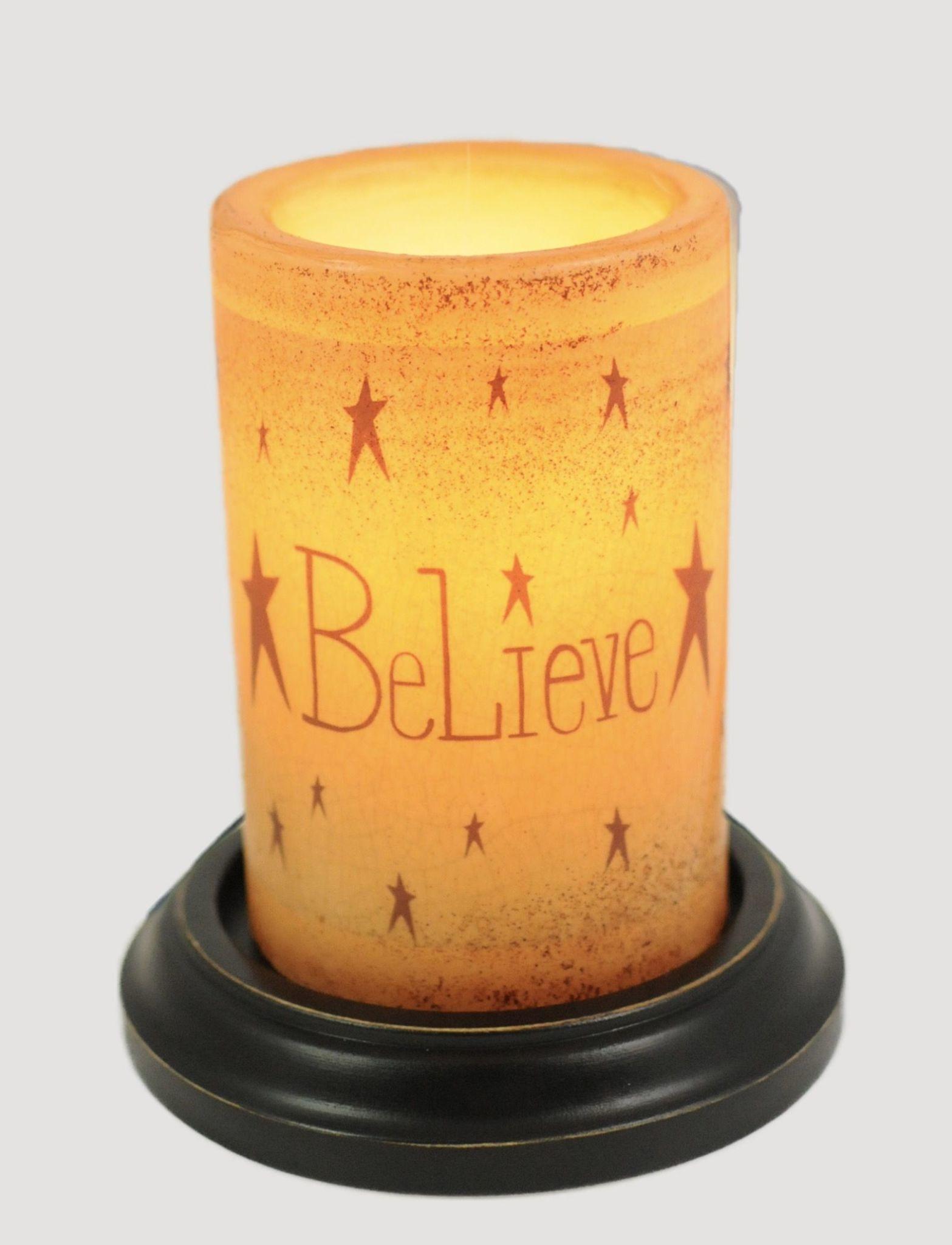 C R Designs Vintage Believe Brown Sugar Candle Sleeve