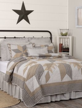 VHC Brands Dakota Star Farmhouse Blue Bedding Collection