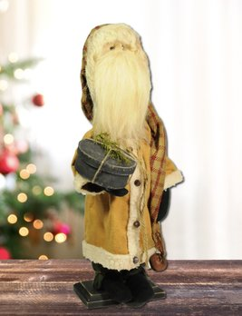 Nana's Farmhouse Santa Mustard Coat Holding Pantry Box