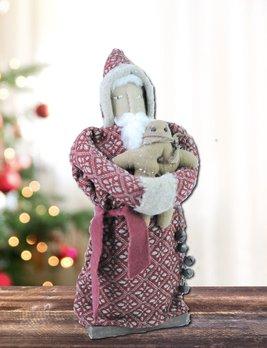 Nana's Farmhouse Santa Holding Gingerbread Man