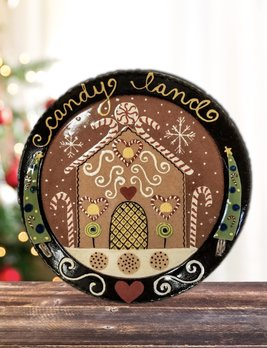 Smith Redware Candy Land Plate