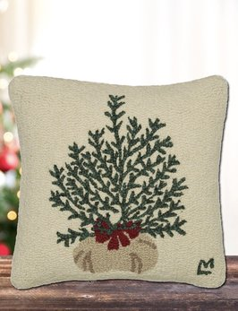 Chandler 4 Corners Plant a Tree Hand Hooked Pillow
