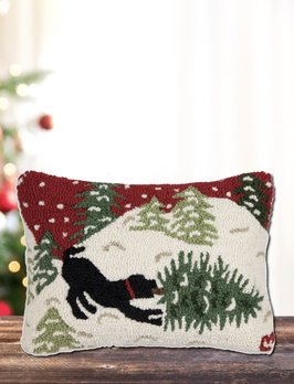 Chandler 4 Corners Bringing Home Tree Hand Hooked Pillow