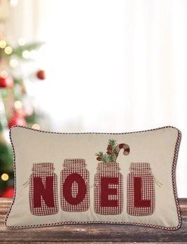 Park Designs Noel Jar Applique Pillow