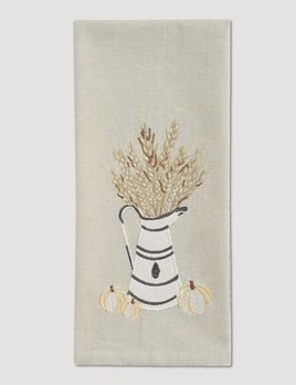 Park Designs White And Wheat Decorative Dish Towel
