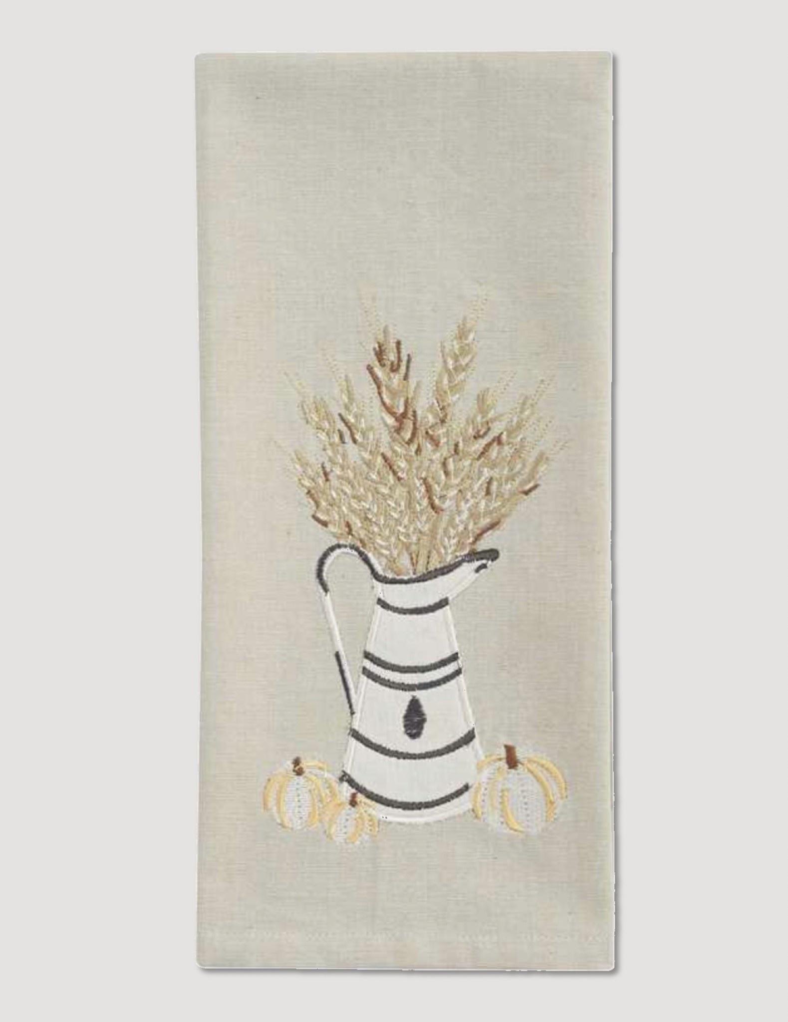 Park Designs White And Wheat Decorative Dish Towel