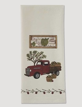 Park Designs Apple Produce Truck Flour Sack Dishtowel