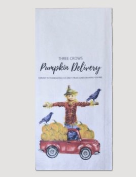 1803 Candles 1803 Three Crows Pumpkin Delivery Towel