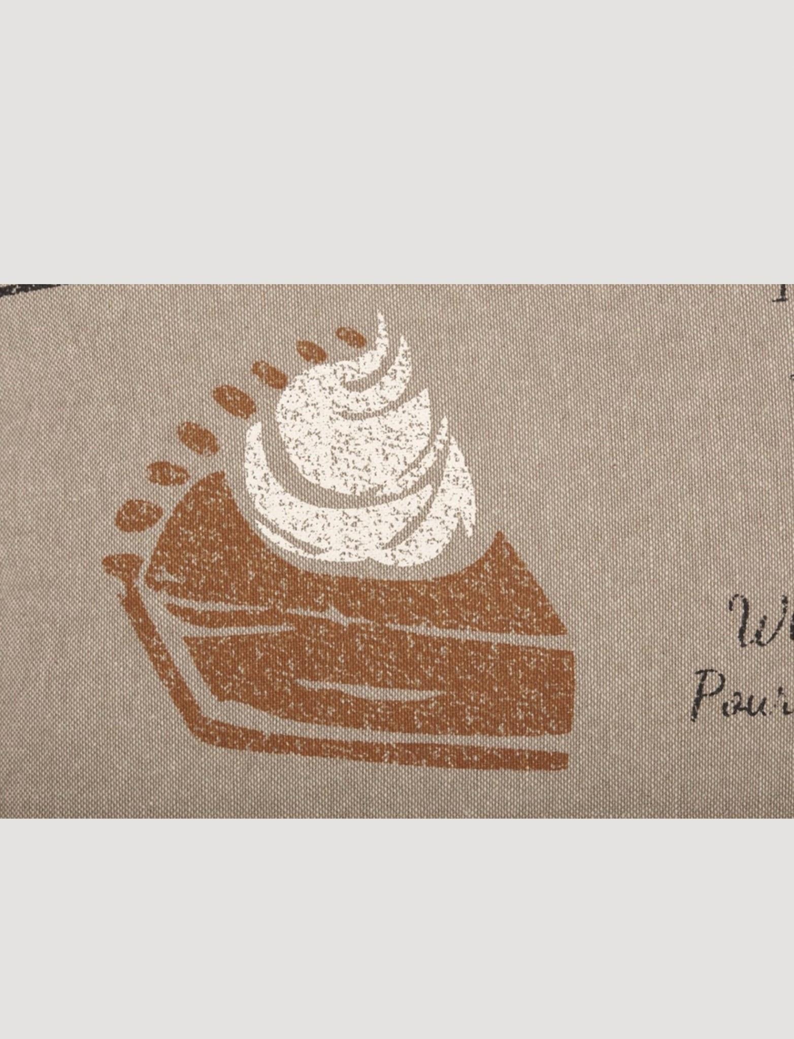 """VHC Brands Sawyer Mill Charcoal Pumpkin Pie Recipe Pillow 14""""x22"""""""
