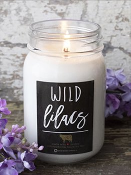 Milkhouse Candles Wild Lilacs 13 oz Milkhouse Farmhouse Jar Candle