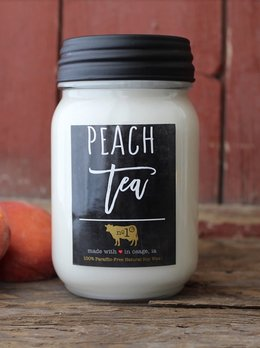 Milkhouse Candles Peach Tea 13 oz Milkhouse Farmhouse Jar Candle