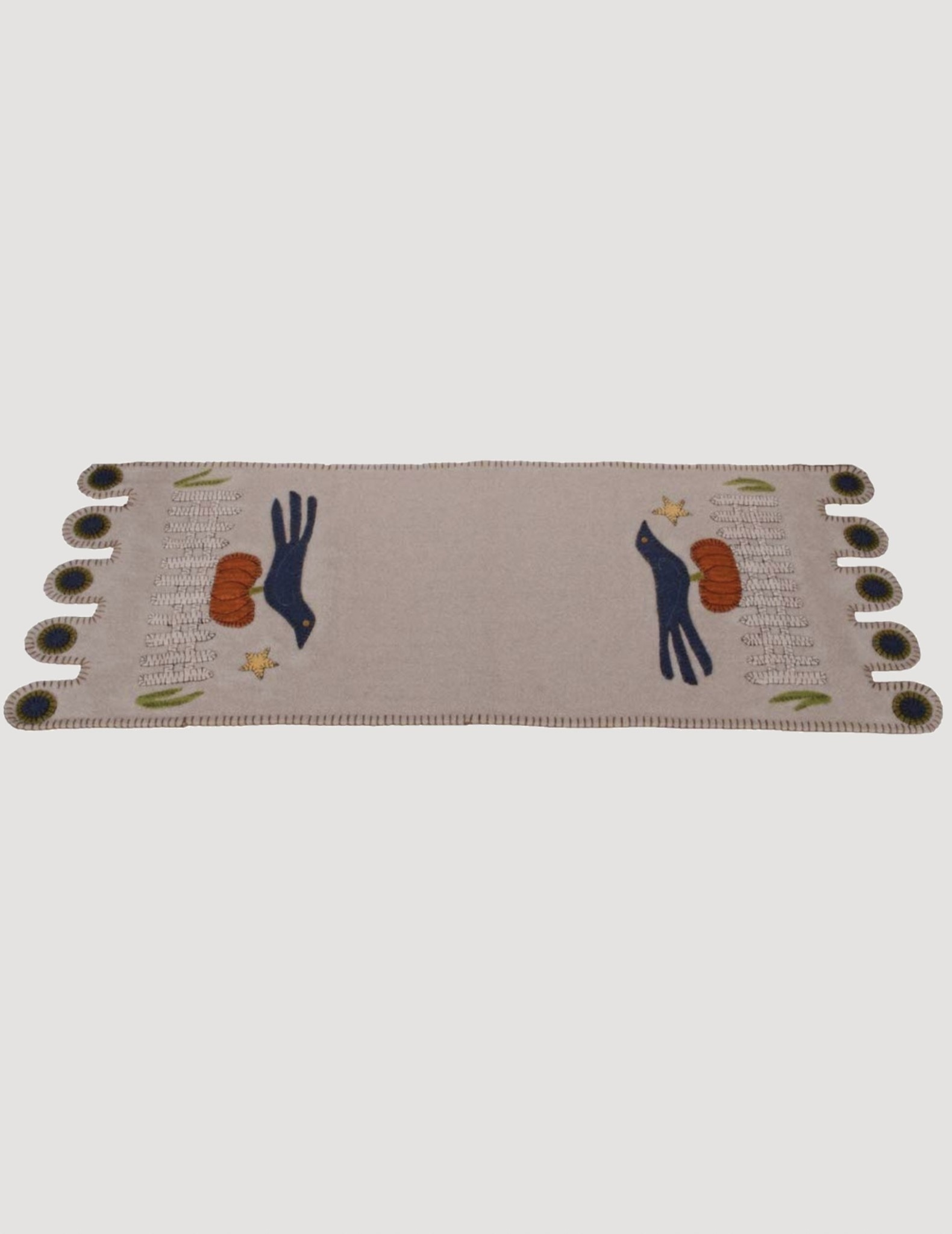 Home Collections By Raghu Sitting On A Fence Gray Table Runner