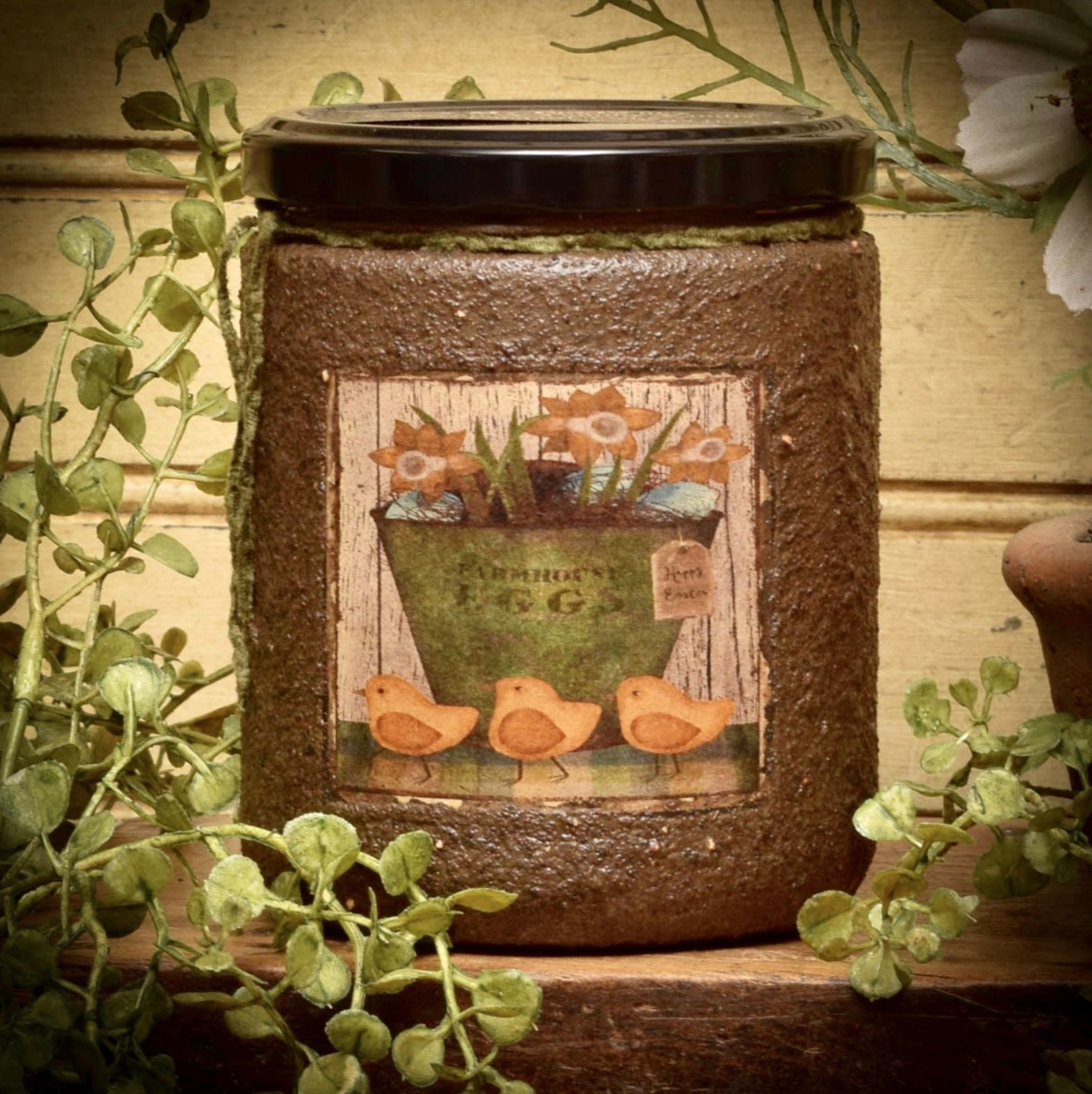 Herbal Star Candles My Peeps Painted Soy Jar Candle 16oz