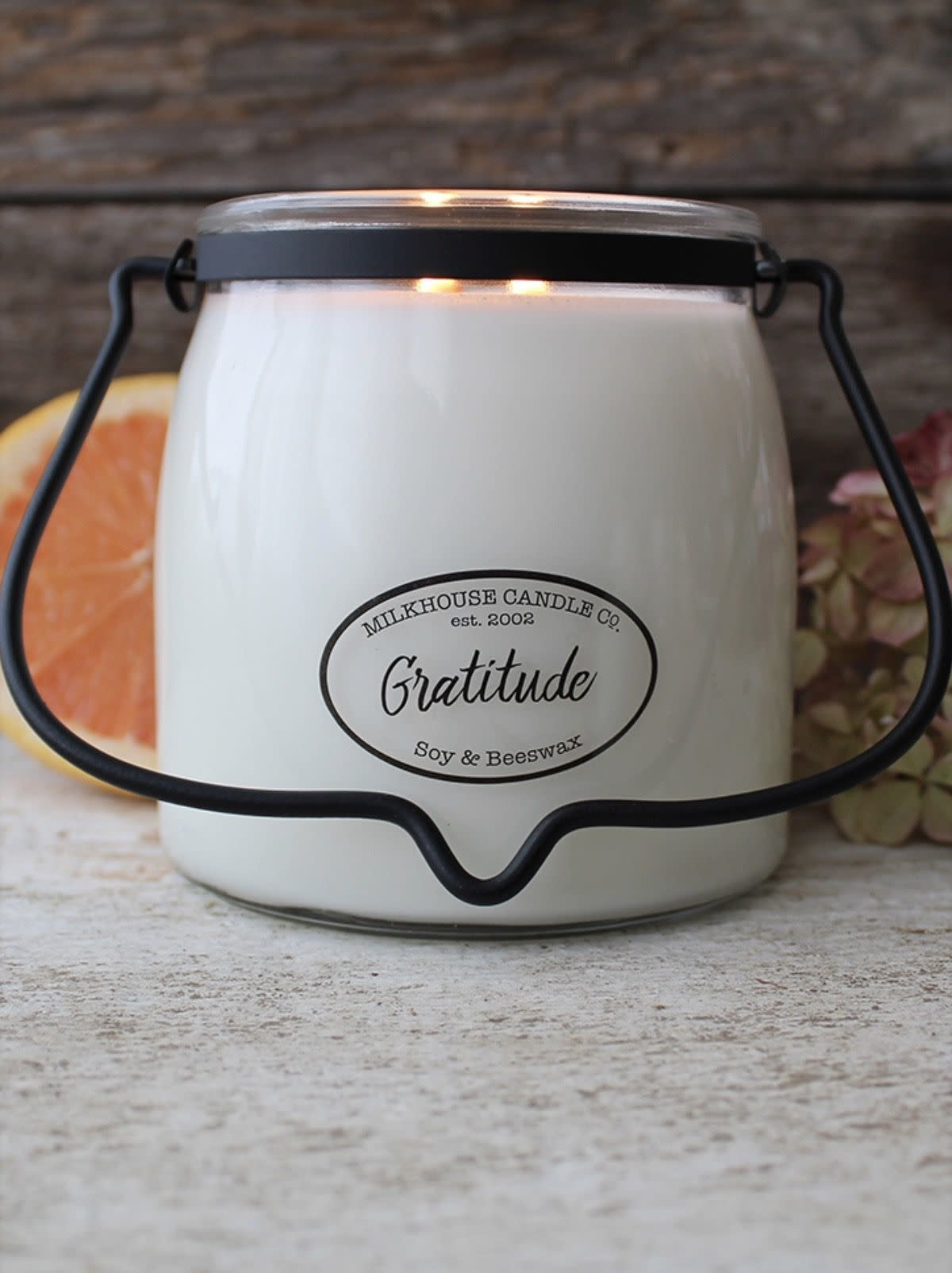 Milkhouse Candles Milkhouse Candle Gratitude 16oz Butter Jar