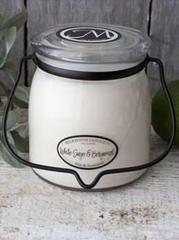 Milkhouse Candles White Sage & Bergamot 16oz Butter Jar