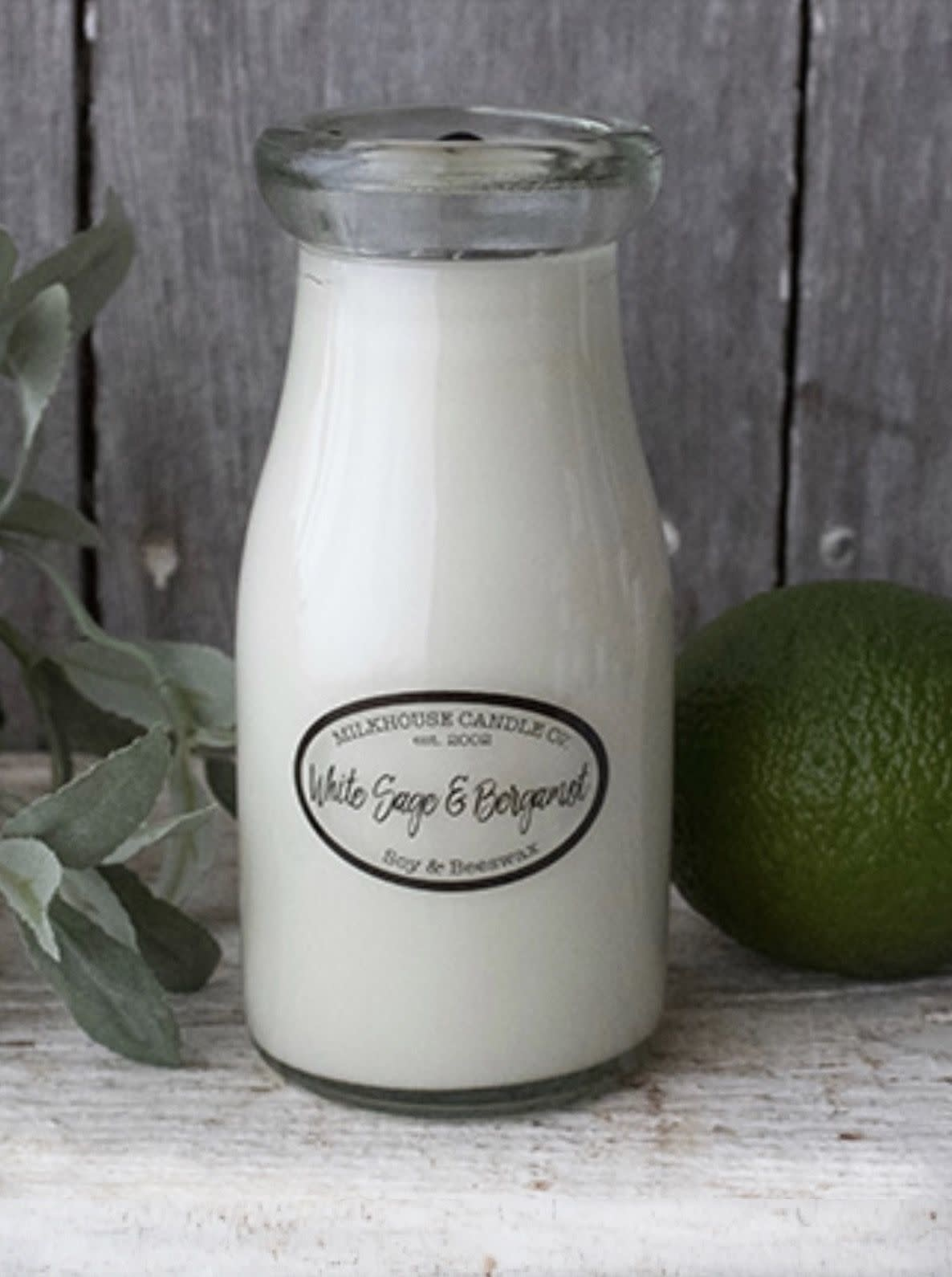 Milkhouse Candles Milkhouse Candles 8oz Milk Bottle White Sage & Bergamot