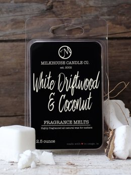 Milkhouse Candles White Driftwood Coconut 2.5oz Melt Milkhouse
