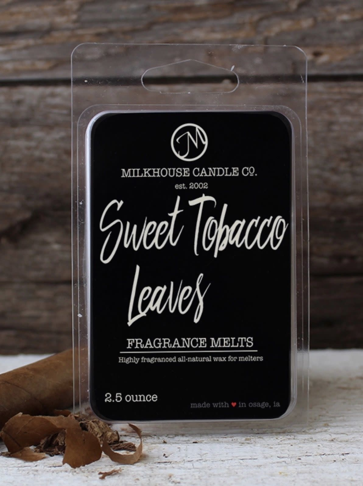 Milkhouse Candles Milkhouse Melt Sweet Tobacco Leaves 2.5oz