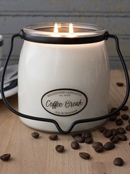 Milkhouse Candles Coffee Break 16oz Butter Jar