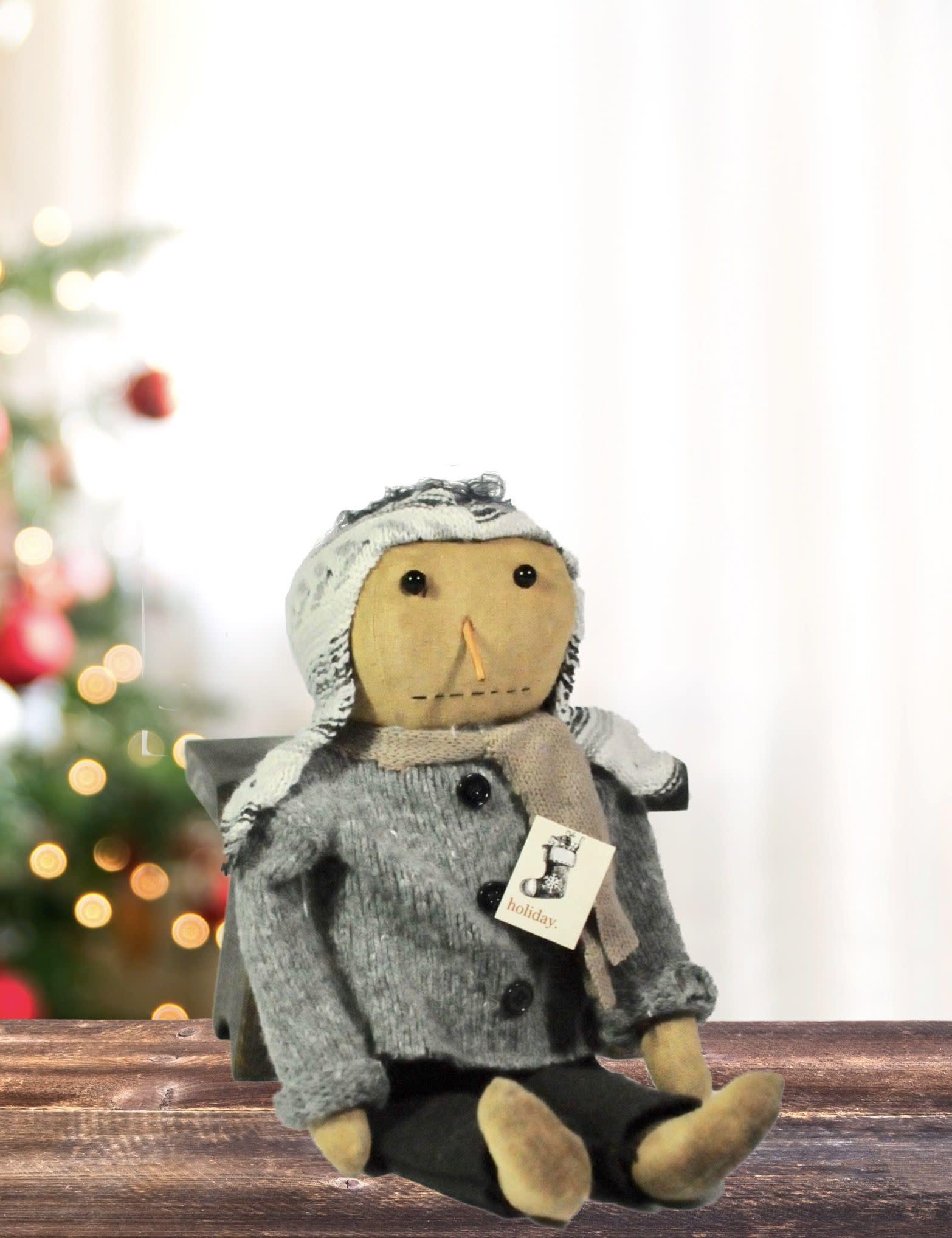Grey Sweater Snowman