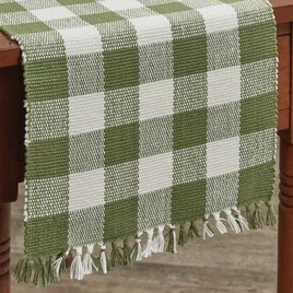 Park Designs Wicklow Sage Buffalo Check Table Runner