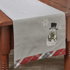 Park Designs Snowman & Holly Table Runner