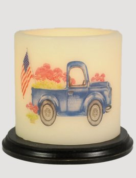 C R Designs Seasonal Truck Oval Candle Sleeve