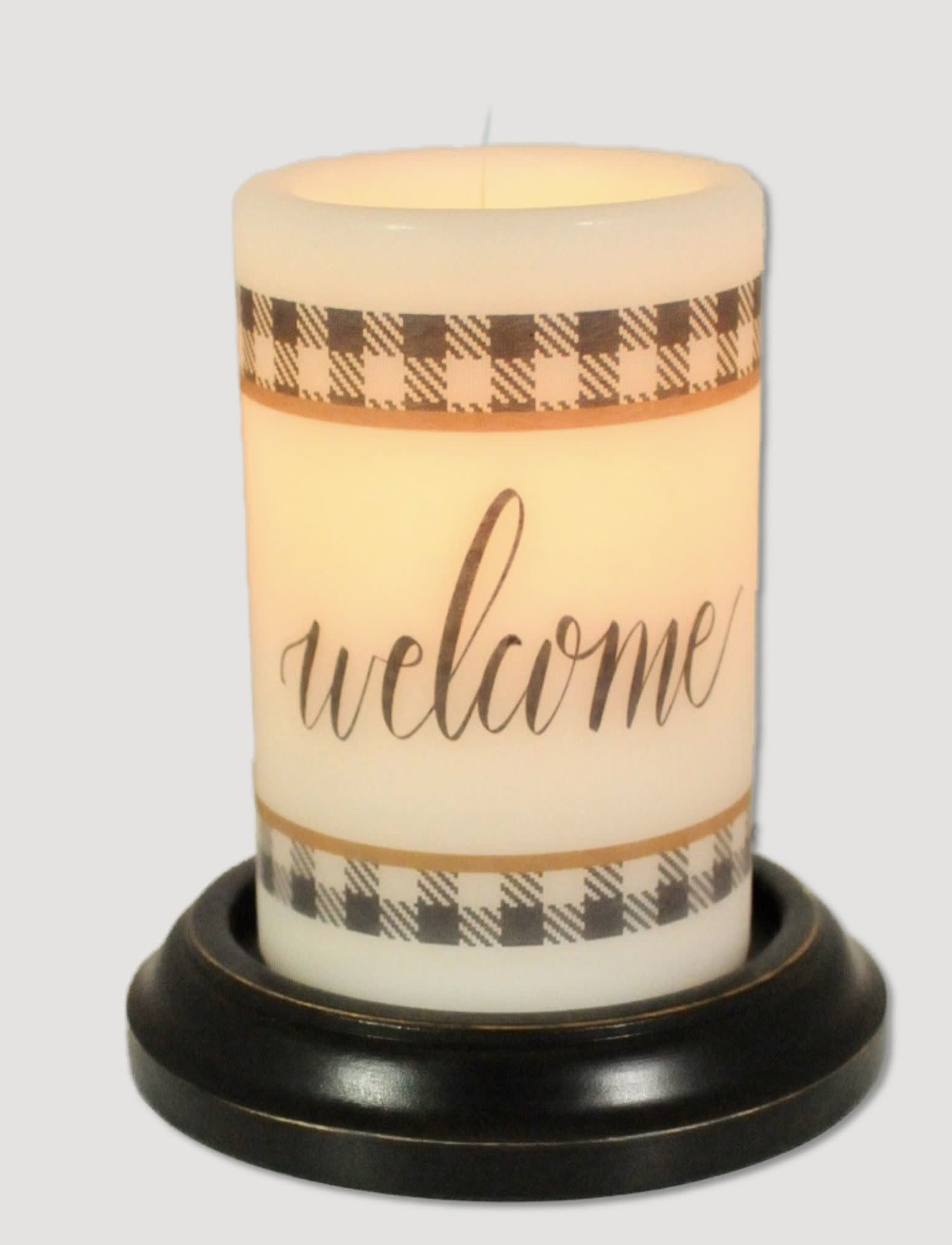 C R Designs Welcome Buffalo Candle Sleeve