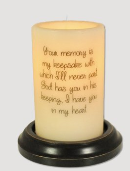 C R Designs Bereavement Your Memory Candle Sleeve
