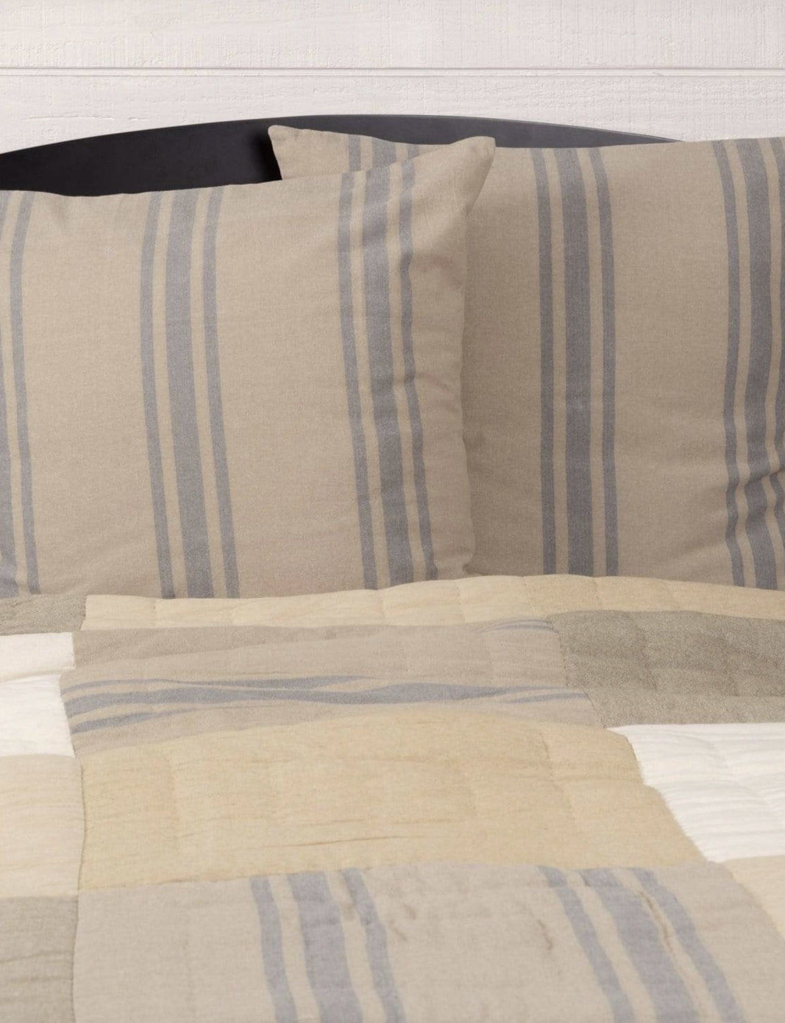 VHC Brands Farmer's Market Grain Sack Stripe Euro Sham Set of 2 26x26