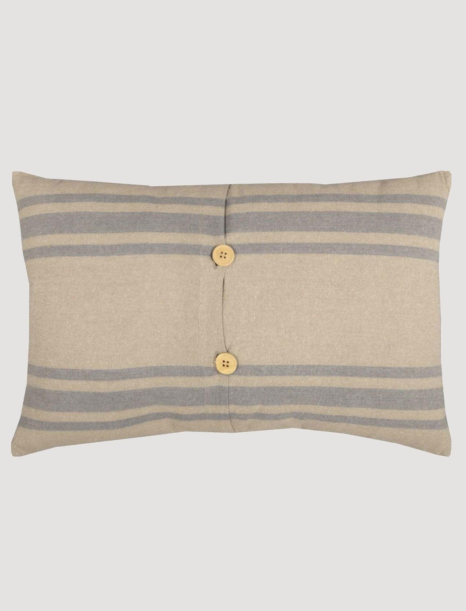 VHC Brands Farmer's Market Grain Sack Stripe Pillow 14x22