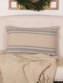 VHC Brands Farmer's Market Grain Sack Stripe Pillow