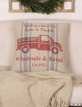 VHC Brands Farmer's Market Delivery Truck Pillow