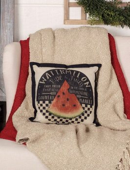 VHC Brands Farmer's Market Fresh Watermelon Pillow