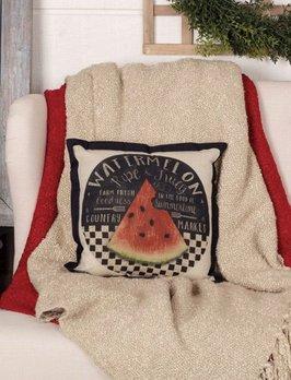 VHC Brands Farmer's Market Fresh Watermelon Pillow