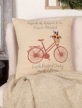VHC Brands Farmer's Market Flower Market Pillow