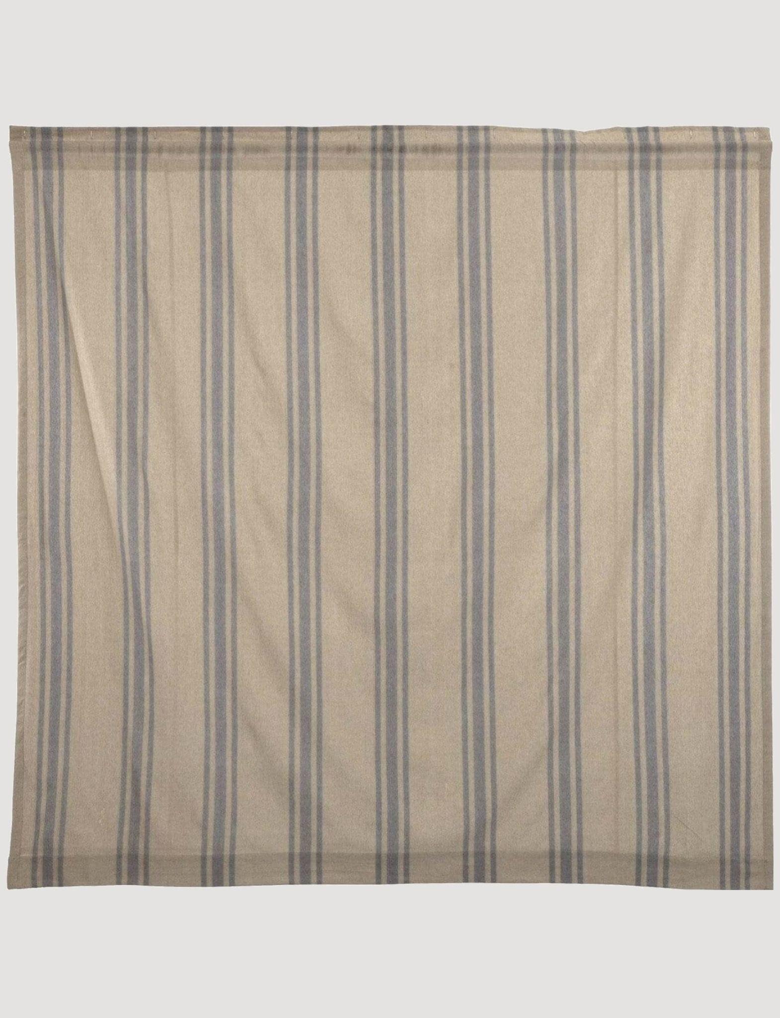 "VHC Brands Farmer's Market Grain Sack Stripe Shower Curtain - 72"" X 72"""