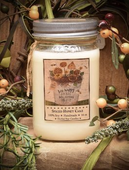 Herbal Star Candles Spiced Honey Cake 16oz Soy Jar Candle